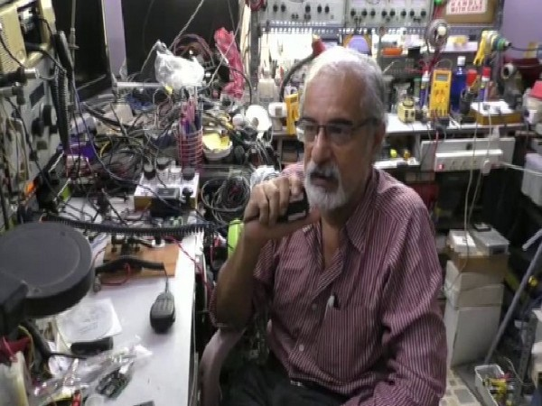 Adhir Saiyadh, a ham radio enthusiast from Ahmadabad gets response from  SpaceX Crew Dragon capsule. [Photo/ANI]