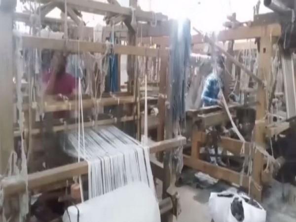 A handloom factory in Haryana's Panipat. Photo/ANI