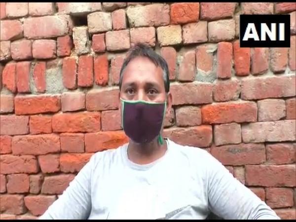 Rahimuddin, husband of the deceased woman in Hapur, Uttar Pradesh. (Photo/ANI)