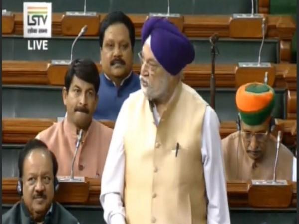 Hardeep Singh Puri (Courtesy - Lok Sabha TV)