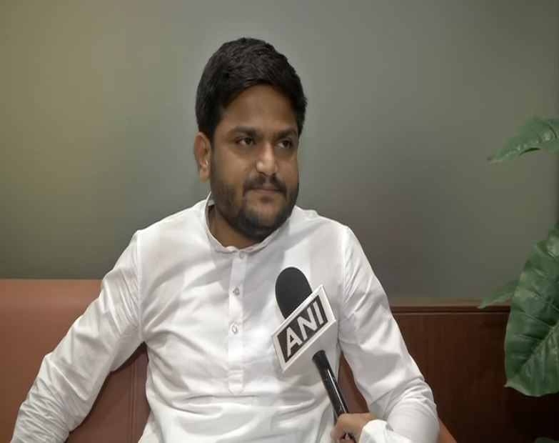 Congress leader Hardik Patel speaking to ANI in Ahmedabad, Gujarat on saturday.