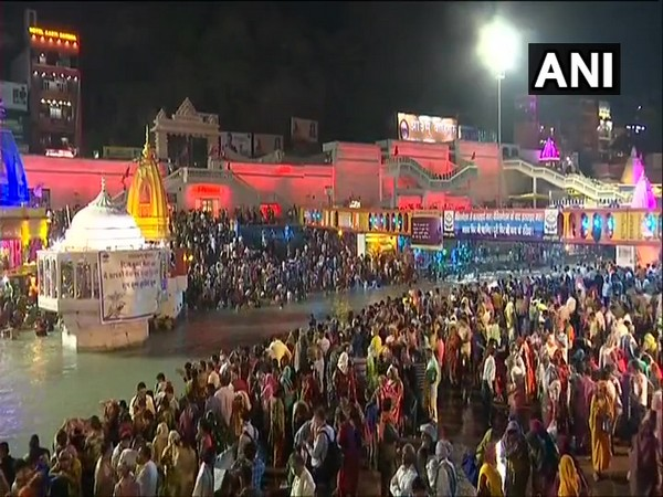 Visuals from Har Ki Pauri in Haridwar (Photo/ ANI)