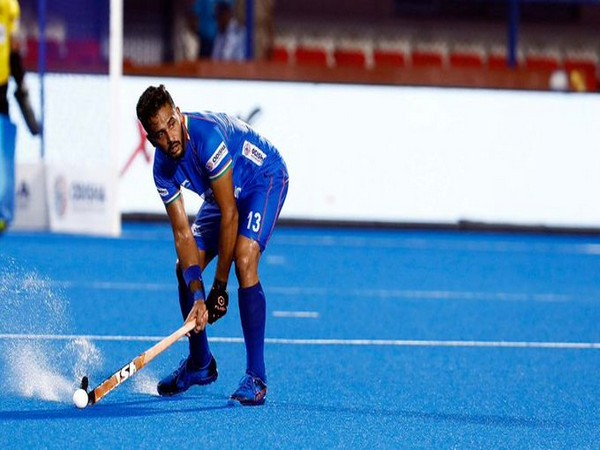 Indian hockey team defender Harmanpreet Singh (Photo/Hockey India Twitter)