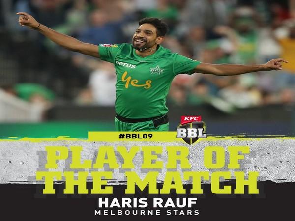 Melbourne Stars' Haris Rauf (Image: BBL's Twitter)