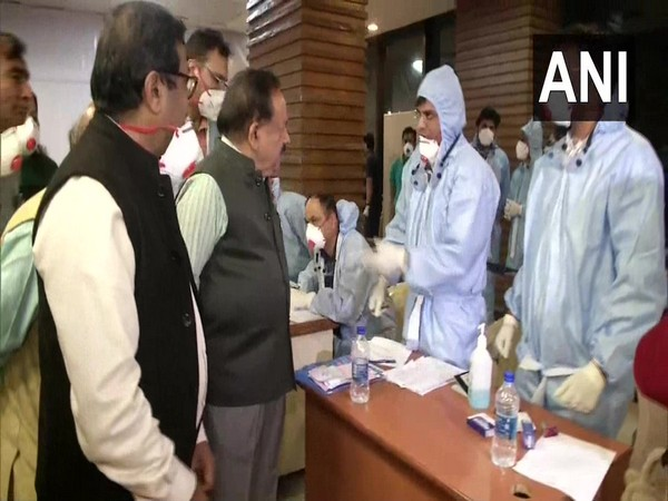 Union Health Minister Harsh Vardhan reviews arrangements at IGI Airport