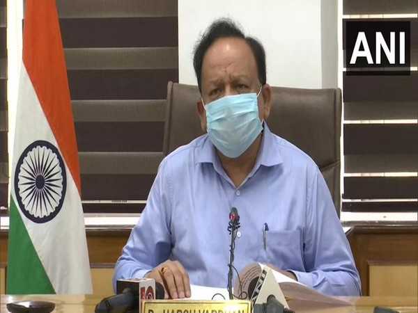 Union Health Minister Dr Harsh Vardhan in Health Ministers of Shanghai Cooperation Organization meeting on Friday. Photo/ANI