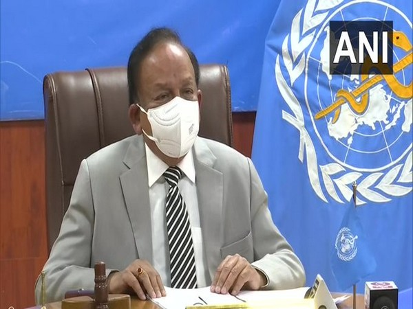 Union Health Minister Harsh Vardhan at 148th session of WHO Executive Board meeting on Tuesday.