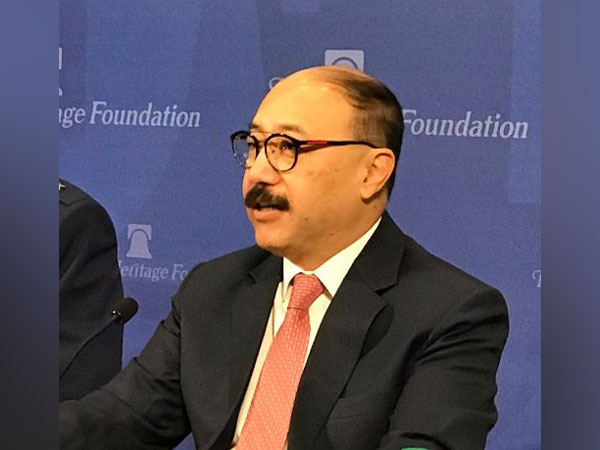 India's Ambassador to the US Harsh Vardhan Shringla addressing the event in Washington on Wednesday. (Picture Credits: ORF Twitter)