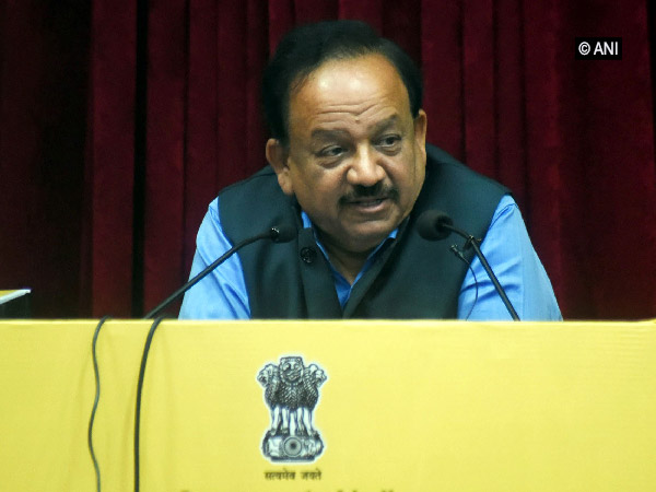 Union Health Minister Harsh Vardhan at the event on Thursday. Photo/ANI
