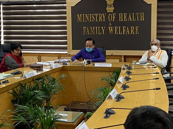 Union Health Minister Dr Harsh Vardhan reviews COVID-19 situation in various states on Friday.