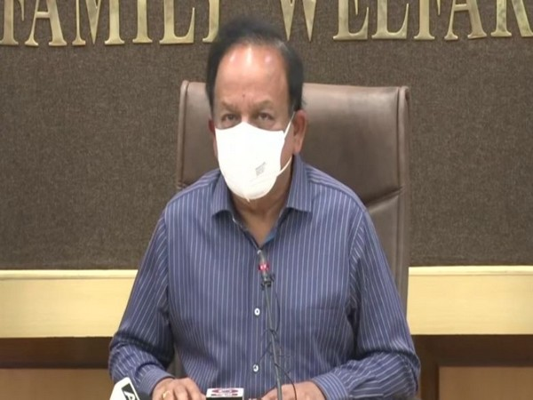 Union Health Minister Dr Harsh Vardhan holding video conferncing on Tuesday.