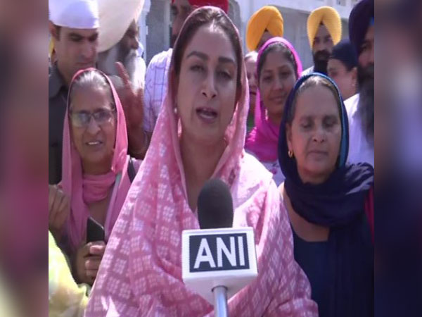 Union Minister and Shiromani Akali Dal leader Harsimrat Kaur Badal talking to ANI on Friday in Amritsar
