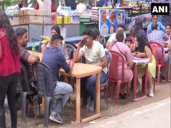 Visual of crowd at Dhanaulti (Photo/ANI)