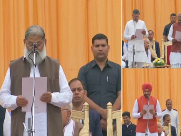 Anil Vij, Kanwar Pal, Sandeep Singh and 7 other ministers took oath as new ministers of the state cabinet today.