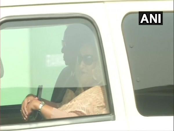 Sheikh Hasina arrives at airport. (Photo/ANI)