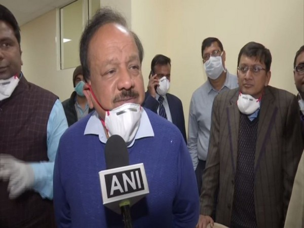 Union Health Minister Harsh Vardhan visits ITBP camp in Chhawla on Monday