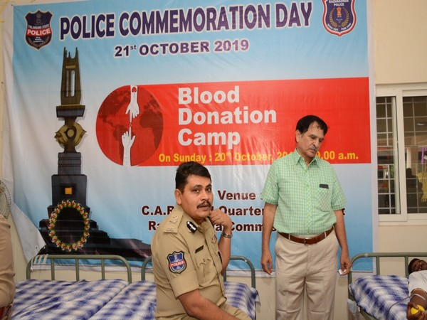 Hyderabad: Blood donation camp organised on eve of Police Commemoration Day