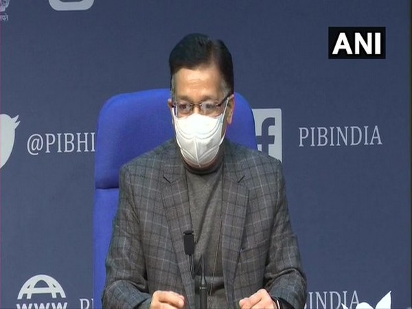 Union Health Secretary Rajesh Bhushan at a press conference on Tuesday. (Photo/ANI)