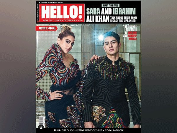 Sara Ali Khan with Ibrahim on 'Hello!' magazine's cover (Image Courtesy: Instagram)