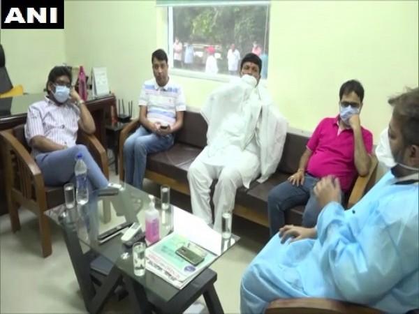 Jharkhand CM Hemant Soren at Medica Hospital on Sunday. Photo/ANI