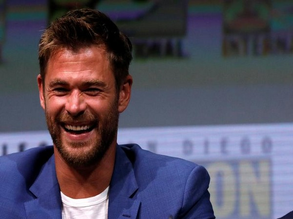 Chris Hemsworth at a panel for 'Thor: Ragnarok'