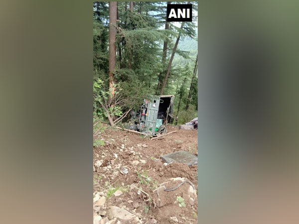 Visuals of the accident site in Theog area of Shimla on Friday.