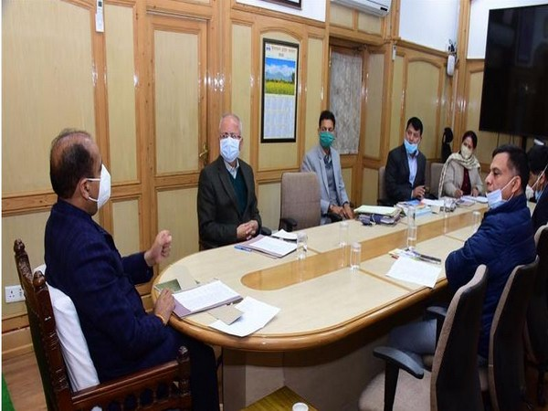 Himachal Pradesh CMJai Ram Thakur held meeitng with senior officials at Shimla on November 18.