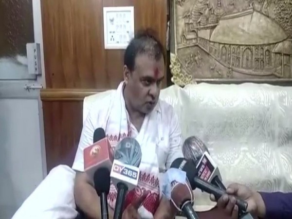 Assam Minister Himanta Biswa Sarma talking to reporters in Guwahati on Sunday. photo/ANI