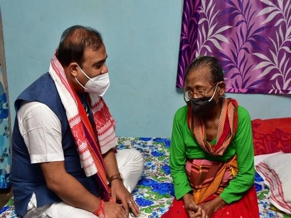 Assam Chief Minister Himanta Biswa Sarma (left) with Birubala Rabha (Photo/ANI)