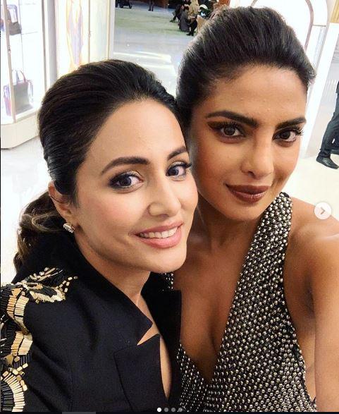Hina Khan and Priyanka Chopra Jonas, image courtesy, Instagram