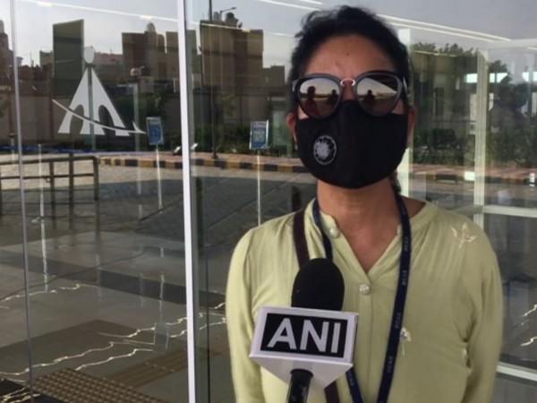 Shobha Bhardwaj, Hindon Airport Manager, speaking to ANI in Ghaziabad on Monday. (Photo/ANI)