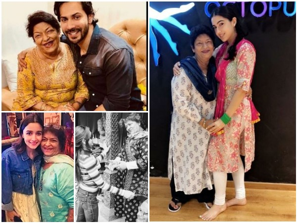 Picture shared by Bollywood stars remembering Saroj Khan (Image courtesy: Instagram)