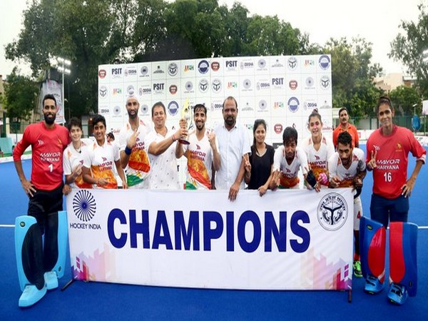 Haryana are all smiles after a long and action-packed day of Hockey! (Photo/Hockey India Twitter)