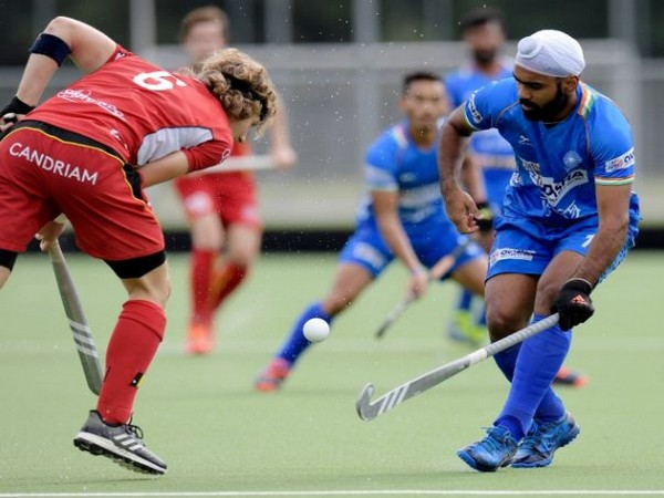Indian Men's Hockey team secure a 2-1 victory over Belgium here on Tuesday. (Photo/ Hockey India Twitter)