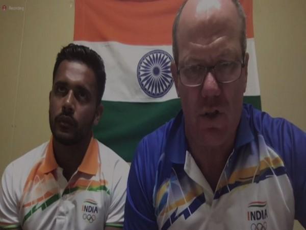 India men's hockey team coach Graham Reid with Harmanpreet Singh