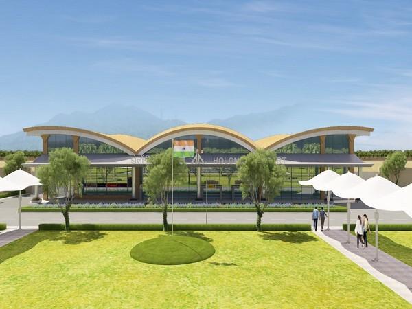 Facade of the terminal building