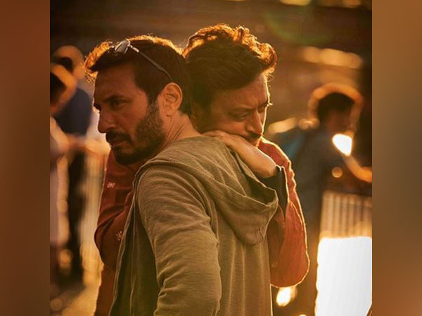 Homi Adajania with Irrfan Khan