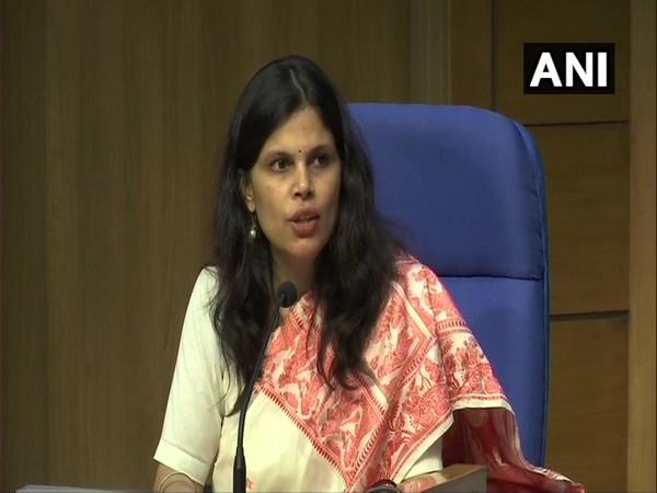 Union Home Ministry Joint Secretary Punya Salila Srivastava addressing a press conference on Monday in New Delhi. Photo/ANI