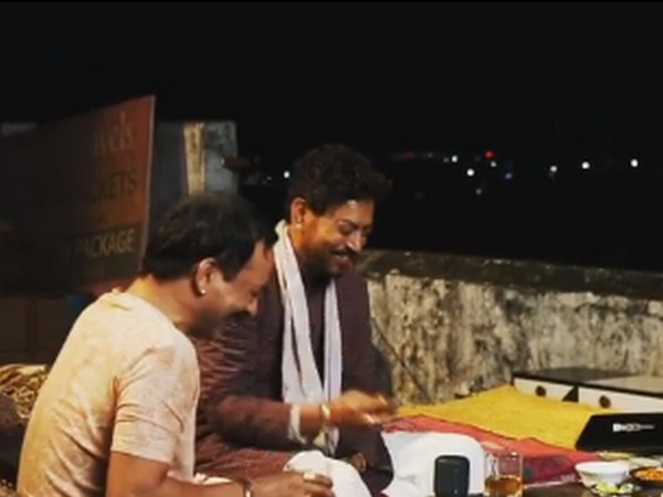 A still from BTS video from sets of 'Angrezi Medium' (Image Source: Instagram)