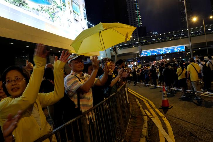 Protesters took to streets in Hong Kong on Sunday