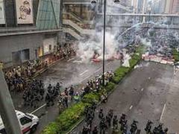 An anti-government protest in Hong Kong (File photo)