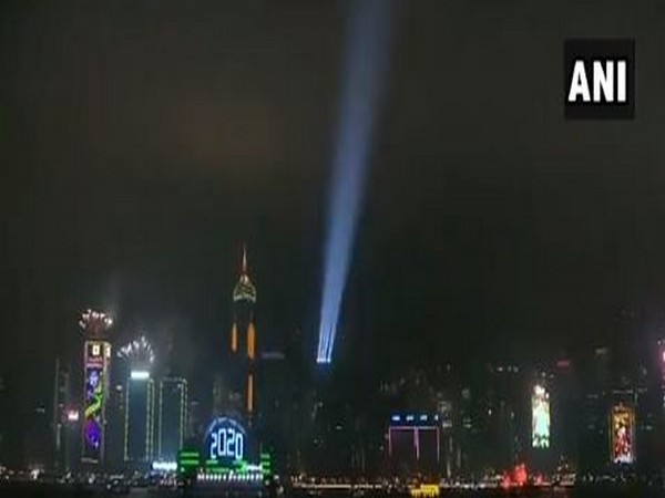 New Year celebrations at Victoria Harbour in Hong Kong