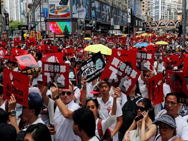 Tens of thousands of protestors took to the streets of Hong Kong on Sunday. (Photo courtesy: Reuters)