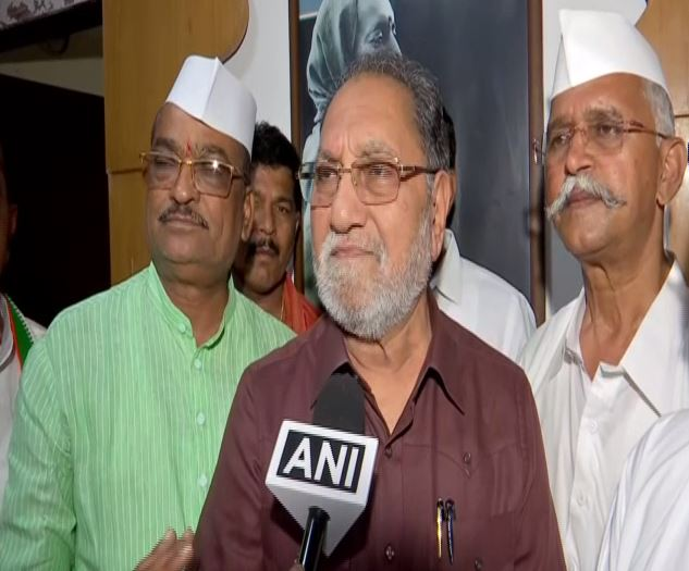 ongress MP Husain Dalwai speaking to ANI in Mumbai on Thursday. (Photo/ANI)
