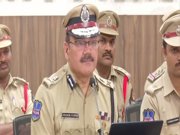 Hyderabad City Police Commissioner Anjani Kumar. Photo/ANI