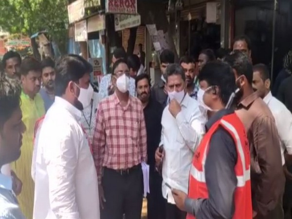 A central government inter-ministerial team visited flood-affected areas of Hyderabad today. [Photo/ANI]
