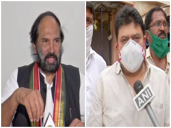 Telangana Pradesh Congress Committee (TPCC) president N. Uttam Kumar Reddy and Bharatiya Janata Party (BJP) MLA, N Ramchander Rao speaking to ANI on Friday (Photo/ANI)