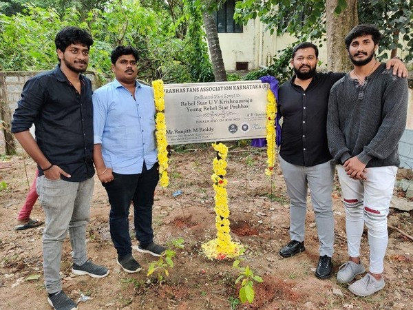 Prabhas Fans Association of Karnataka plants 180 saplings under Green India Challenge.