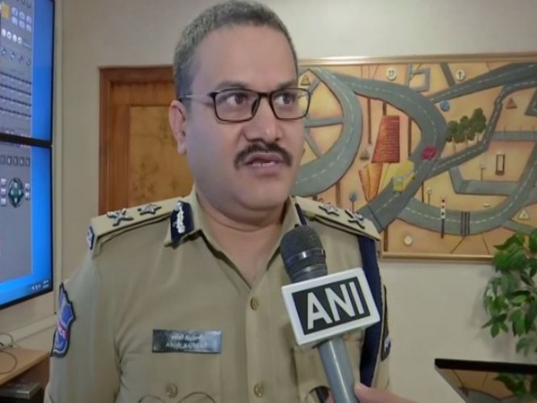 Anil Kumar, Additional Commissioner of Police Traffic, Hyderabad talking to ANI on Wednesday. Photo/ANI