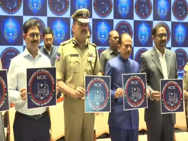 Telangana Home Minister Mohammed Mahmood Ali releasing the logo of Hyderabad City Security Council on Thursday. Photo/ANI